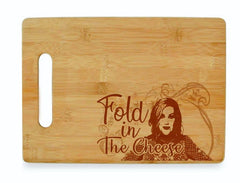 cutting board with fold in the cheese