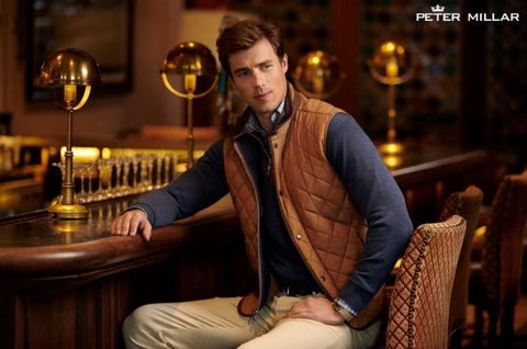 A man wearing Peter Millar vest