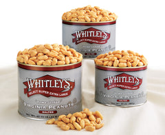 jars of Whitley's Virginia peanuts