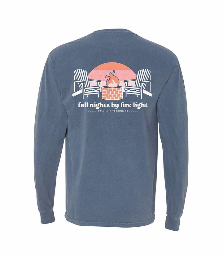 Fall Nights Long Sleeve Pocket Tee