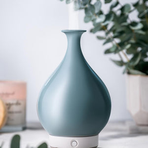 WOOLZIES GREEN CERAMIC VASE DIFFUSER