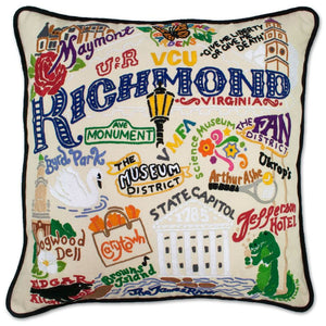 Catstudio Richmond Hand Embroidered Pillow