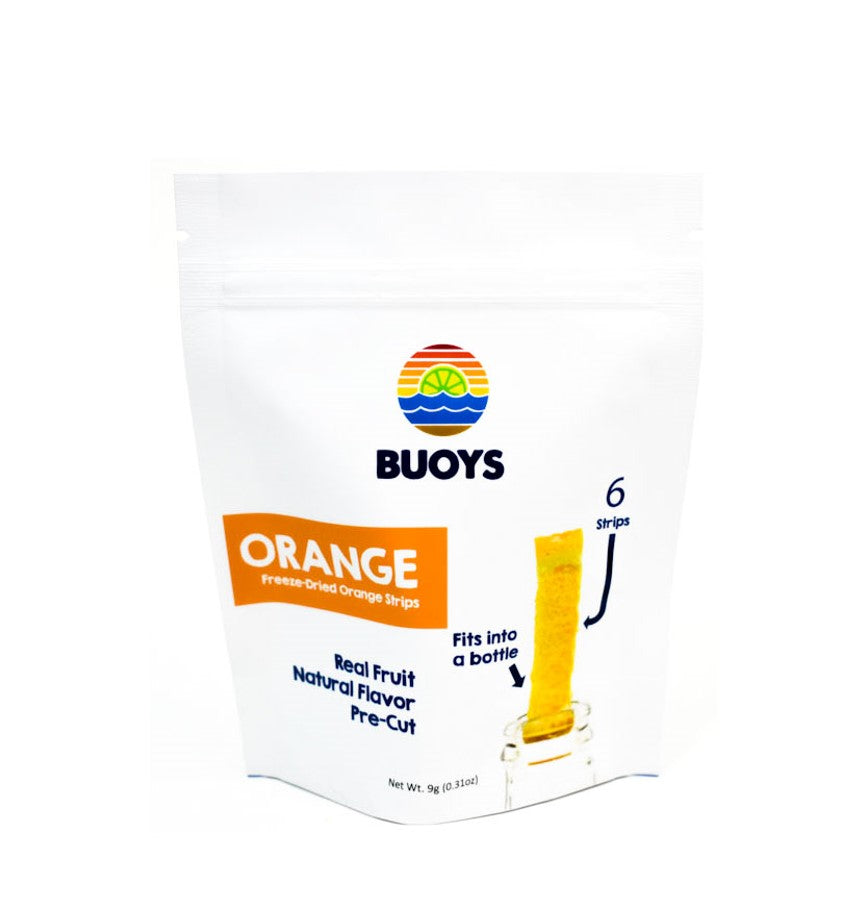 Freeze-dried Orange Strips