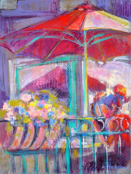 Dorothy Fagan, Title: Under The Umbrella *Limited Edition Print*