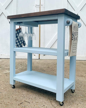 Hand-Built Bar/Kitchen Cart