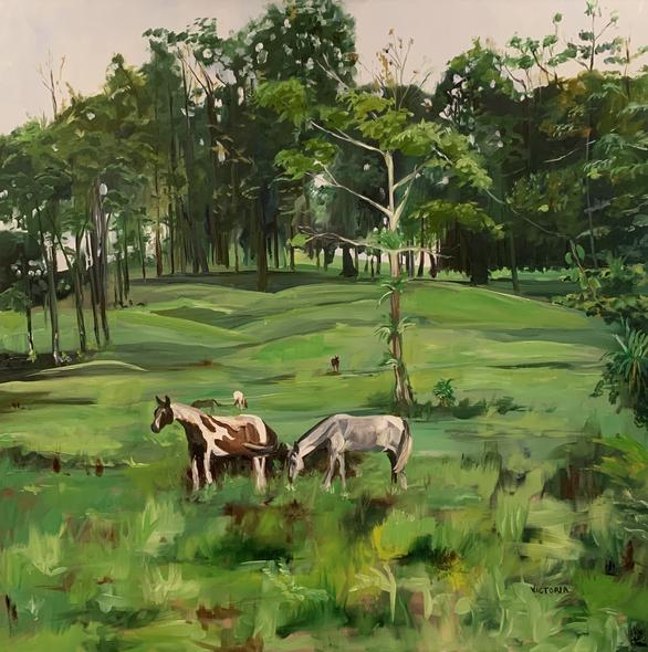 Victoria Gross Title:Grazing In Arenal
