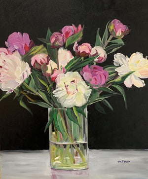 Victoria Gross Title: Mixed Peonies