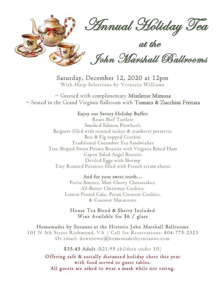 Annual Holiday Tea at the John Marshall Ballrooms