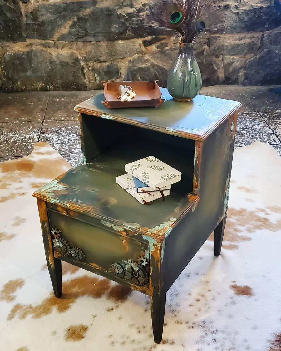 Steampunk Nightstand/Side Table