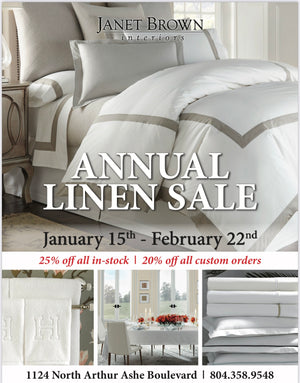 Janet Brown Interiors: Annual Linen Sale
