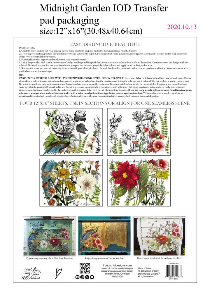 Transfers, Stamps, Moulds | Iron Orchid Designs