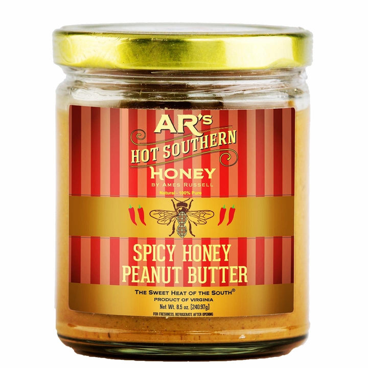 AR's® Hot Southern Honey Spicy Honey Peanut Butter, 8.5 oz Net Wt.