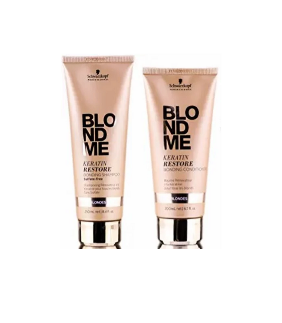 Schwarzkopf BlondMe Keratin Restore Shampoo and Conditioner Set