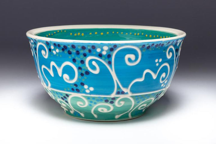 Steven Summerville Title:Turquoise Teal Salad Bowl