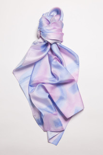 100% Silk Scarf-Purple & Blue