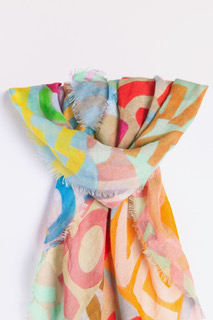 Cashmere & Modal LOVE Scarf: Small Multicolor