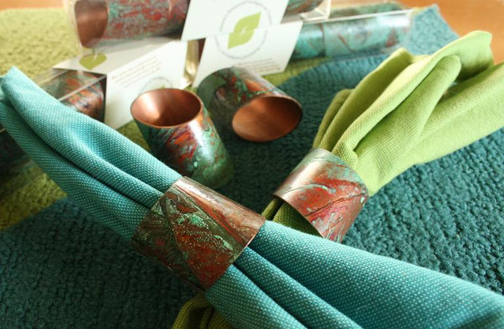 Cathy Vaughn, Title: Copper Napkin Rings