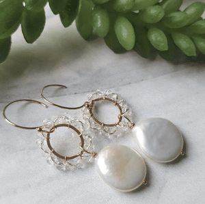 Pearl Crown Earrings