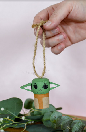 Baby Yoda Wine Cork Ornament
