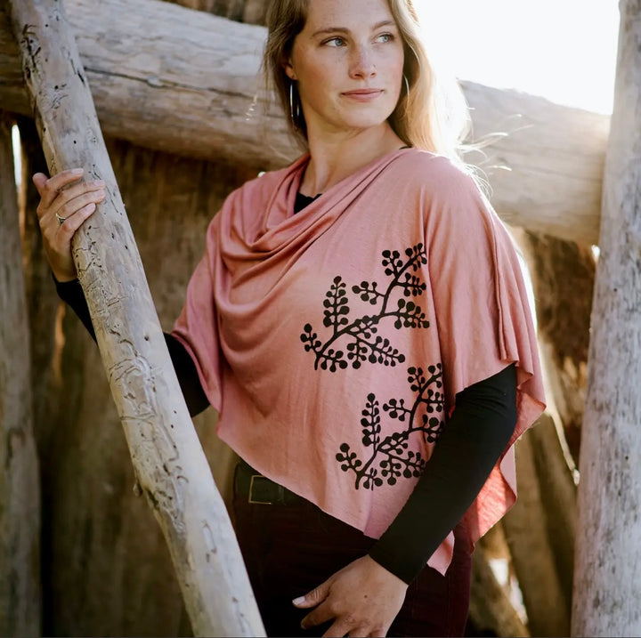 Jersey Hand Block Printed Poncho