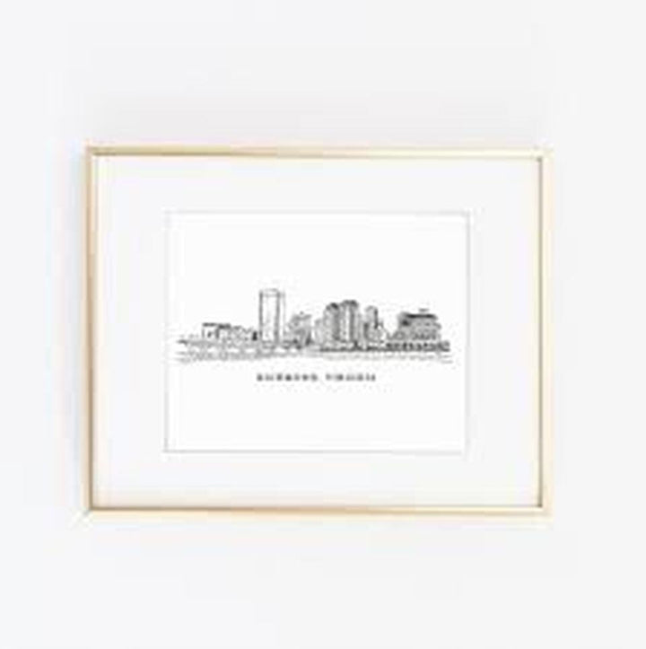 English Tea Paperie - RVA skyline print
