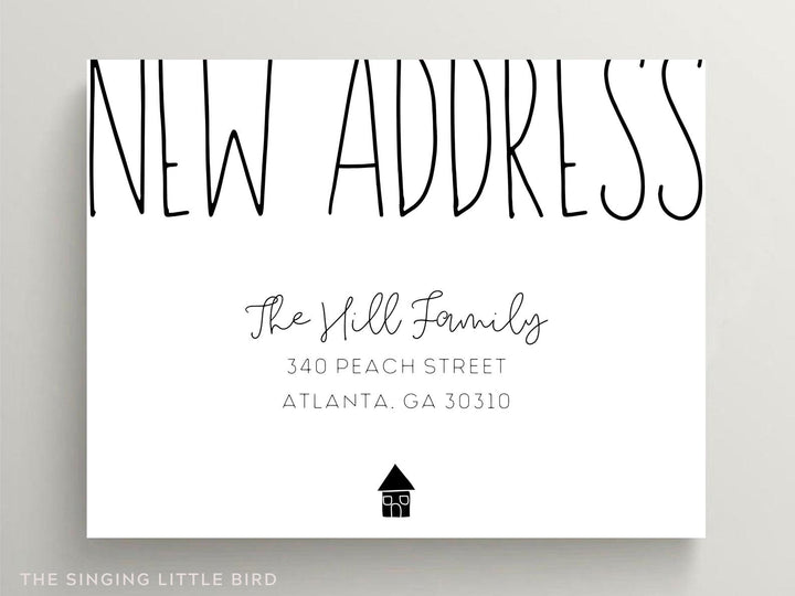 Modern Moving Announcement Card / Change of Address Postcard / We've Moved Cards / New Home Announcement / Personalized New House / Minimal