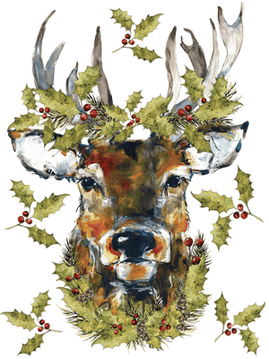 Woodland Christmas IOD Transfer 12x16 Pad
