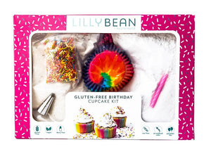 Gluten-Free Birthday Cupcake Kit Gift Box (Vegan!)