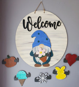 22-inch Interchangale Gnome Sign Kit