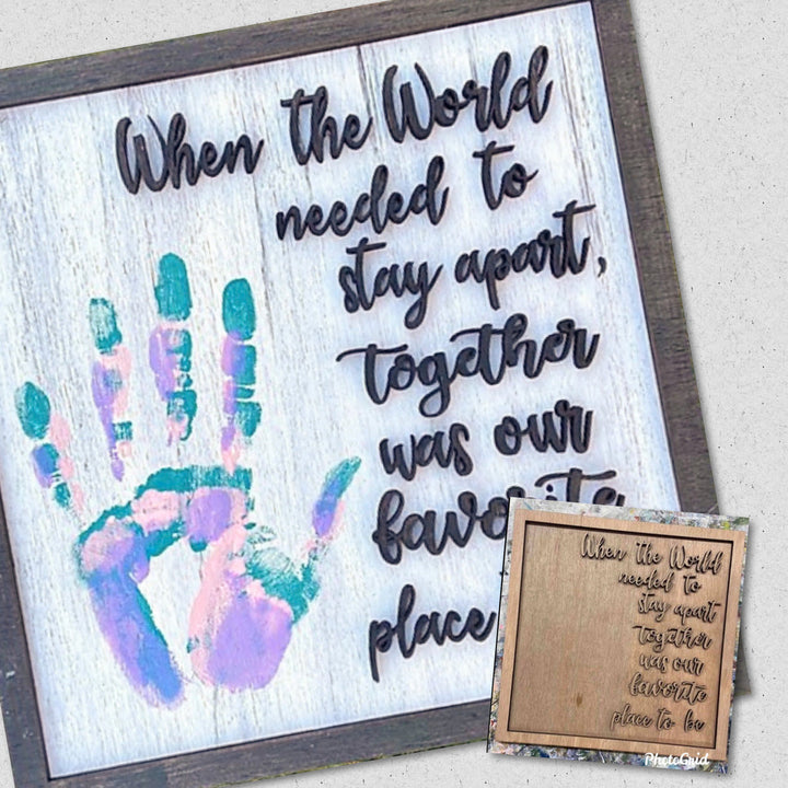 "Featured DiY Kit: ""Together"" - 12x12 Wooden Family Keepsake"