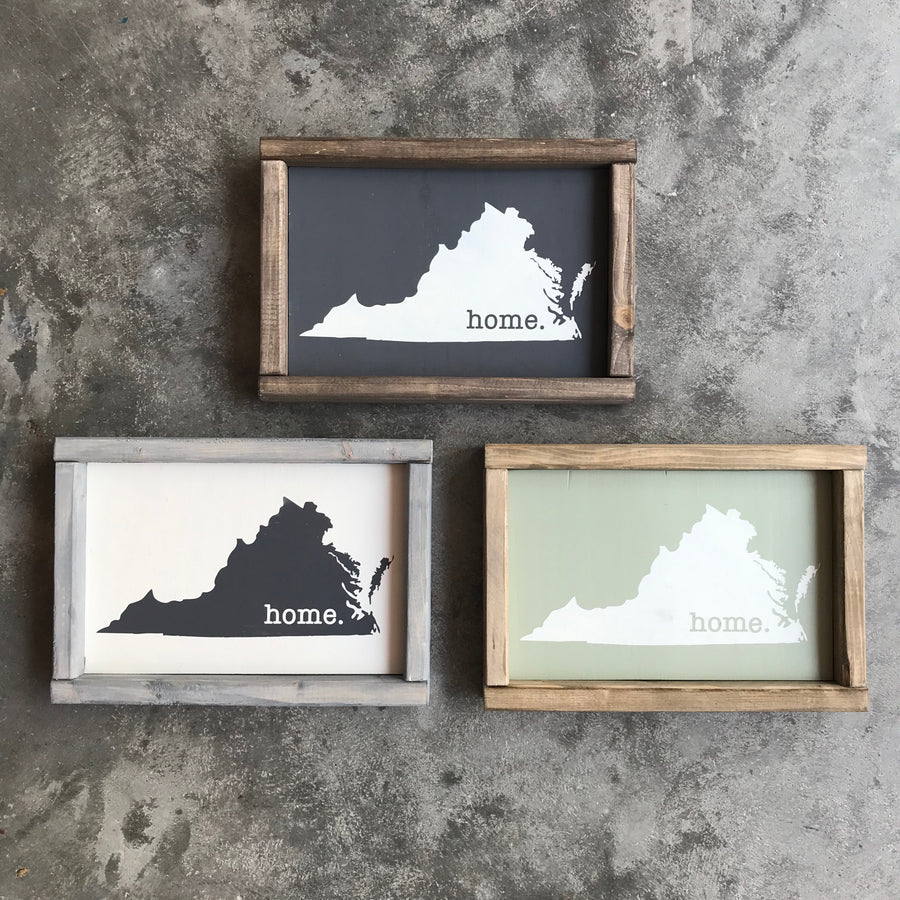 HOME VA Mini Wood Signs