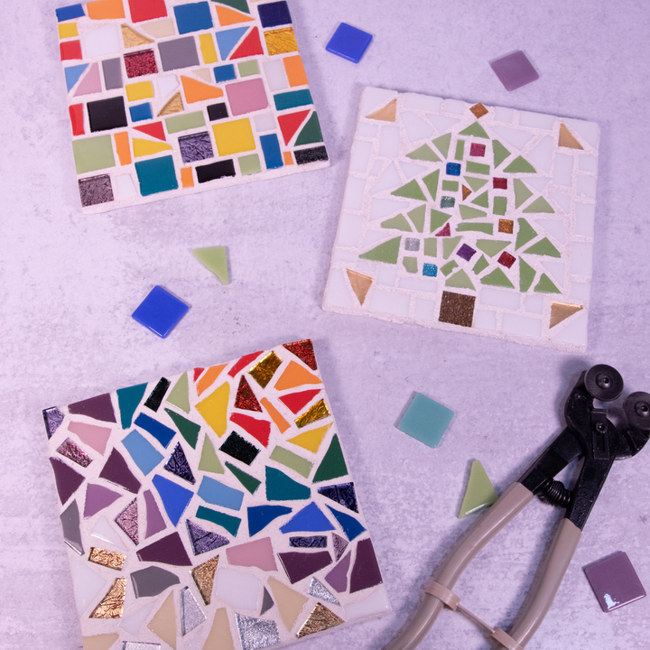 DIY KIT Mosaic Trivet or Coasters