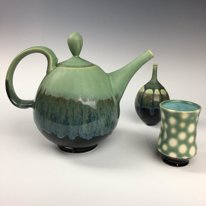 Jake Johnson - Green Teapot & Vase