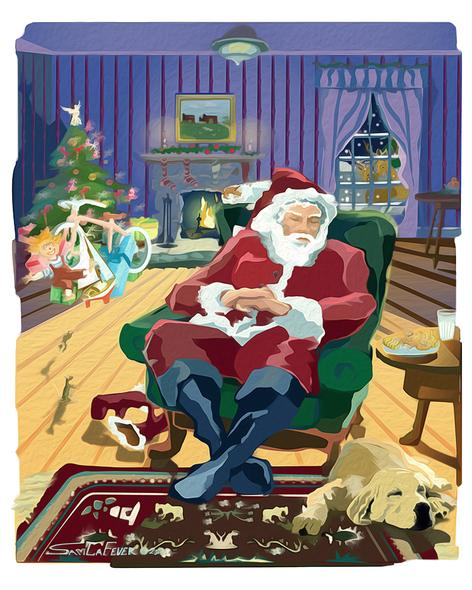Sam LaFever Title: Sleeping Santa