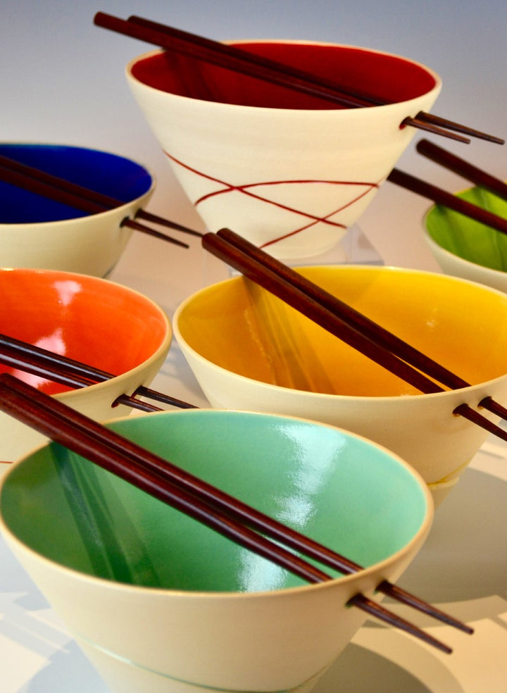 Ceramic Rice Bowls by Susan Gaible