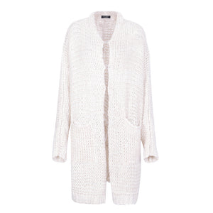Casual knitting long cardigan jumper