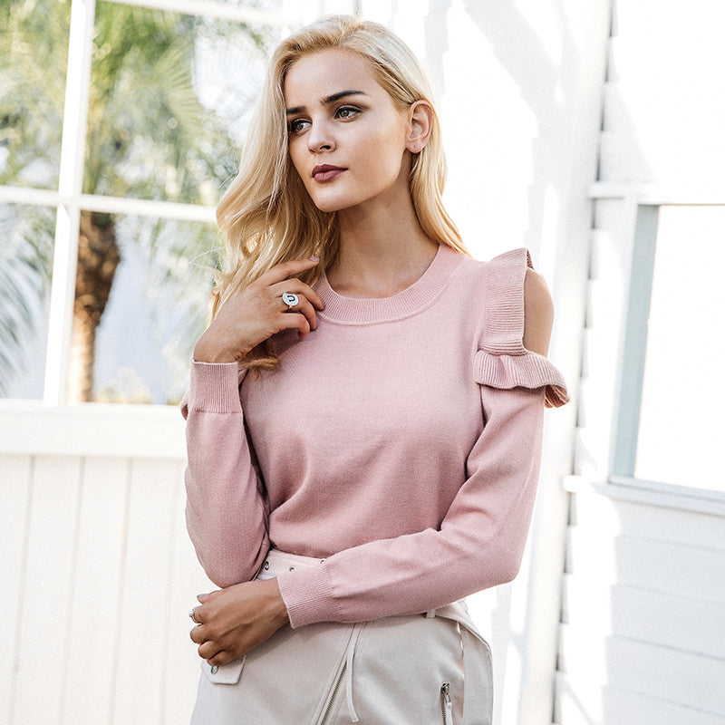 Casual pink sweater