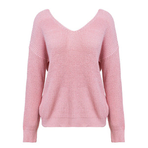 V neck pearl sweater