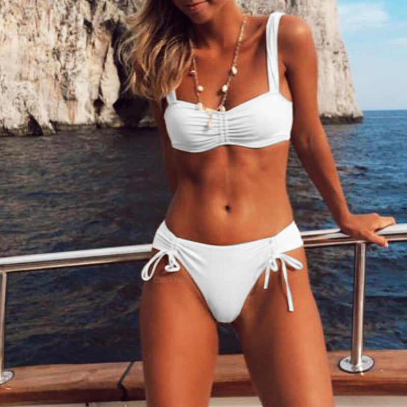 White top on bikini