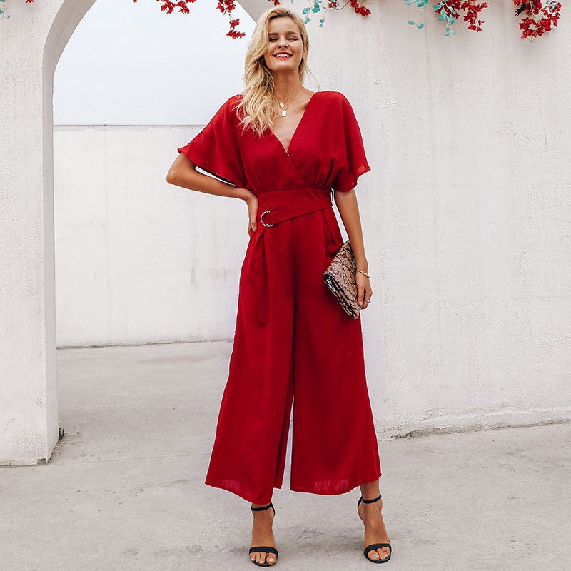 Red losse jumpsuit