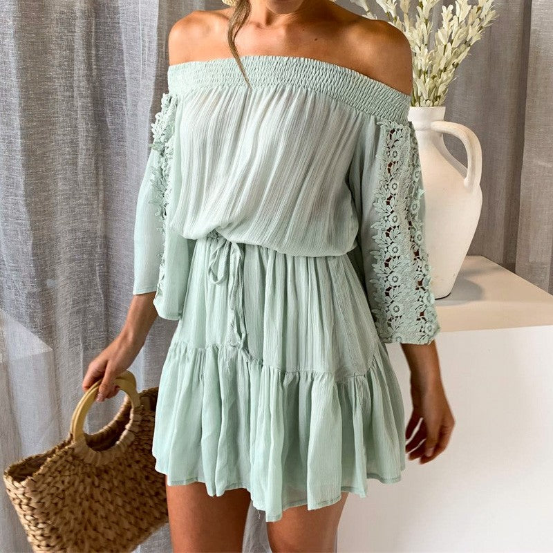 Rima off shoulder dress