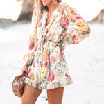 Chiffon high waisr playsuit