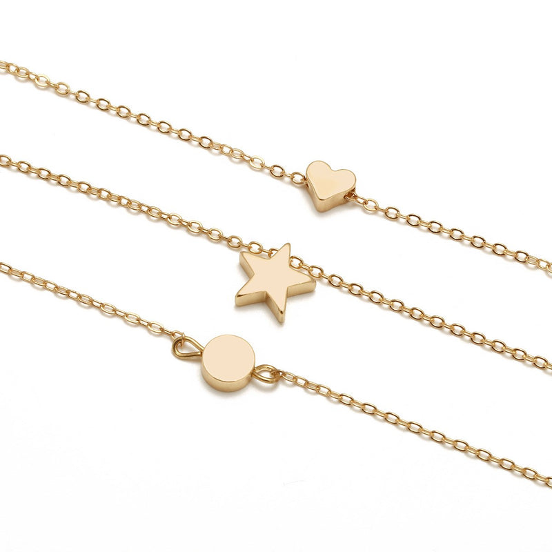 Heart-Shaped Pendant Necklace E-Plating Female Necklaces