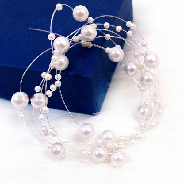 Long Hair Viner Pearl Hair Vine Pearl Headband Wedding headpiece Bridal Hair vine Bridal Jewelry Hair Jewelry Bridesmaide gift