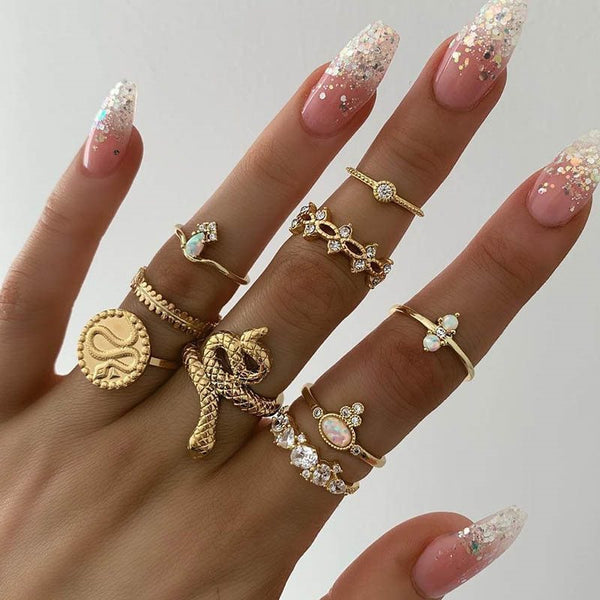 Free Shipping European Alloy Diamante Prom Rings