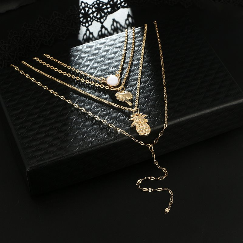 E-Plating Chain Necklace Plant Female Necklaces