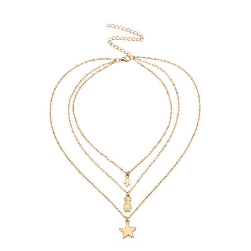 Choker Necklace E-Plating Star Female Necklaces