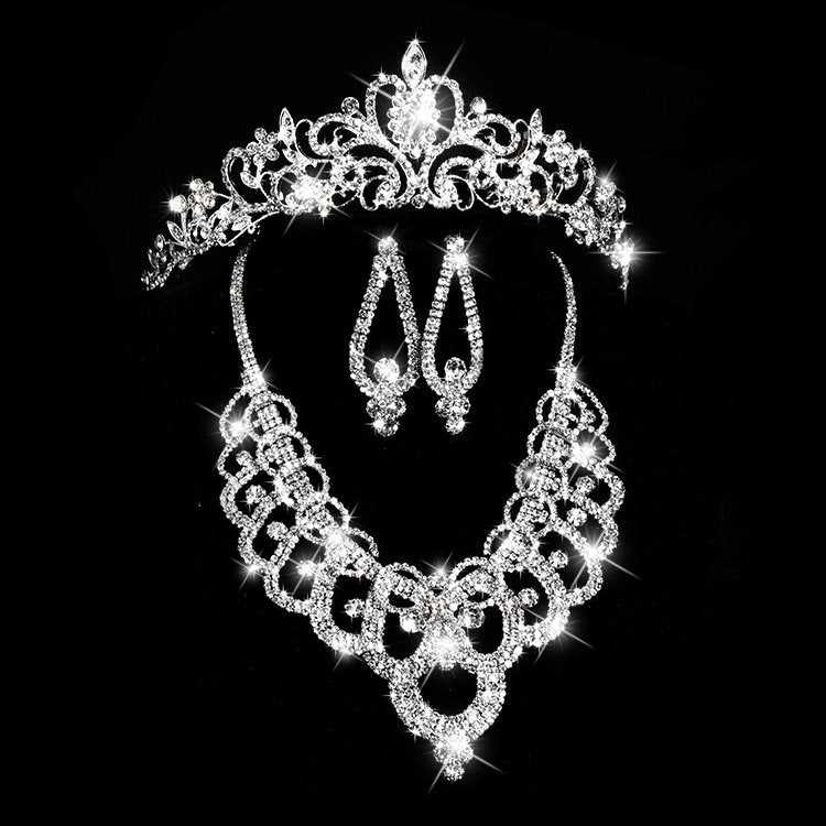 Plant Tiara Korean Wedding Jewelry Sets