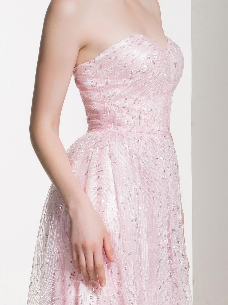 Sweetheart Sequins A-Line Sleeveless Bridesmaid Dress