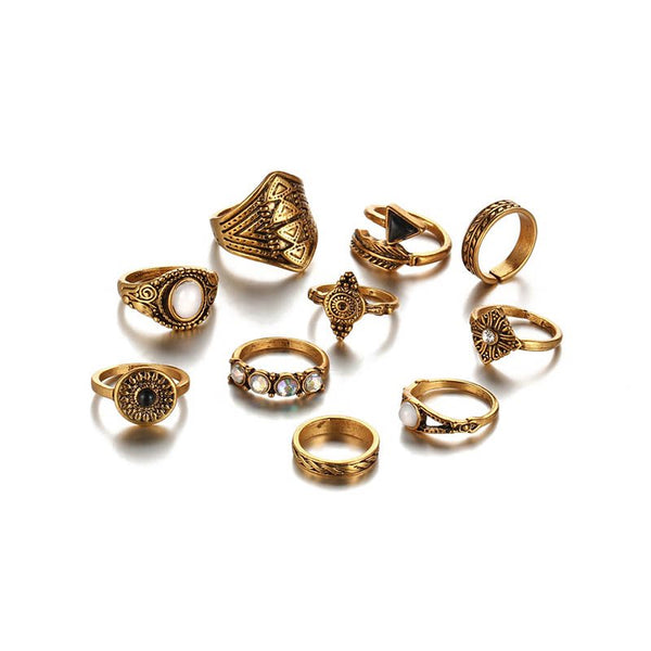 Alloy Vintage Diamante Gift Rings